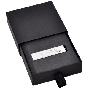 Slider flash drive presentation box