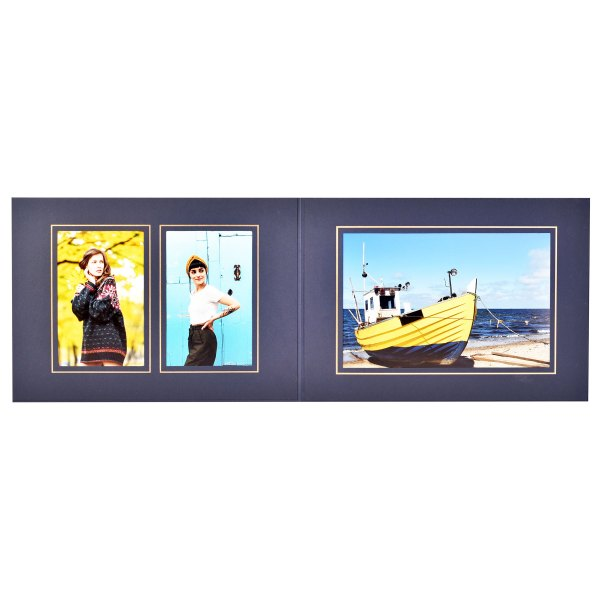 Triple blue & gold folder 6x4   6x4   9x6