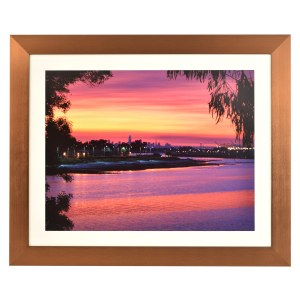 Freestyle copper picture frame with mount