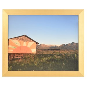 Freestyle gold picture frame without mount