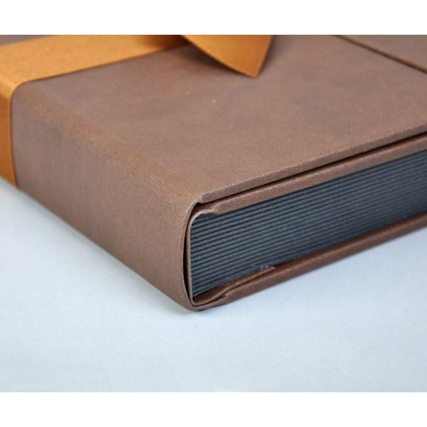 Sara Ribbons brown album corner