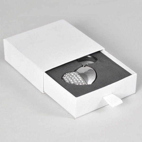 Slider flash drive presentation box in white