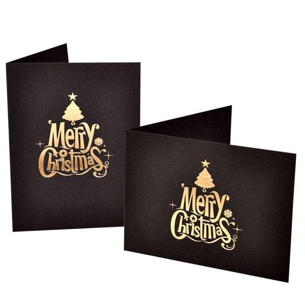 Merry Christmas foiled photo folders