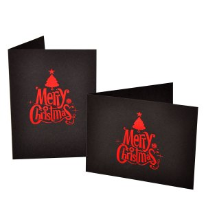 Merry Christmas foiled photo folders