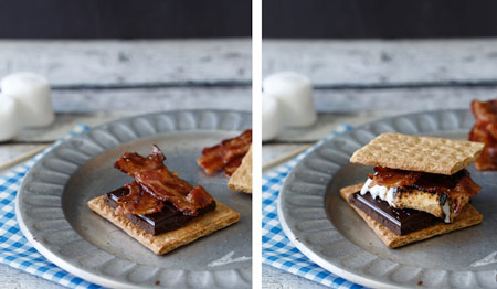 bacon on a s'more