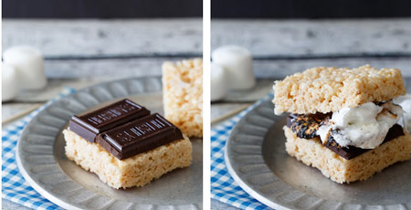 rice crispy krispie treat s'more