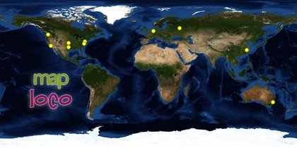 Global Locations of Site Visitors since 25 August 2012