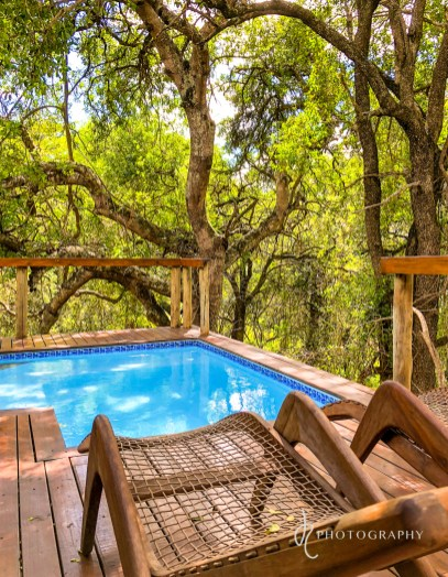 private plunge pool and deck
