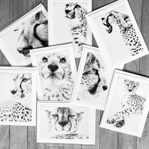 I am cheetah greeting cards
