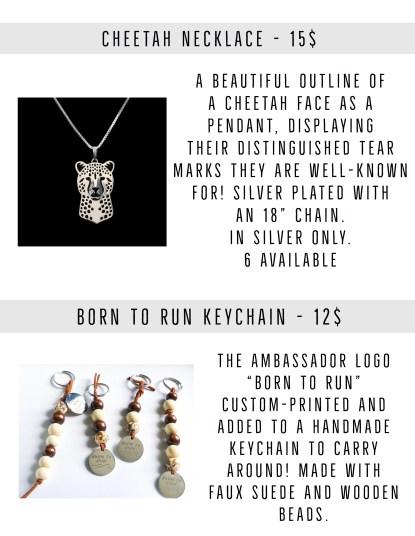 born to run cheetah fundraiser