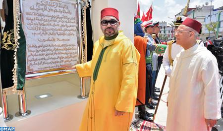 أمير المؤمنين يدشن بابن مسيك مسجدفلسطين ويؤدي به صلاة الجمعة