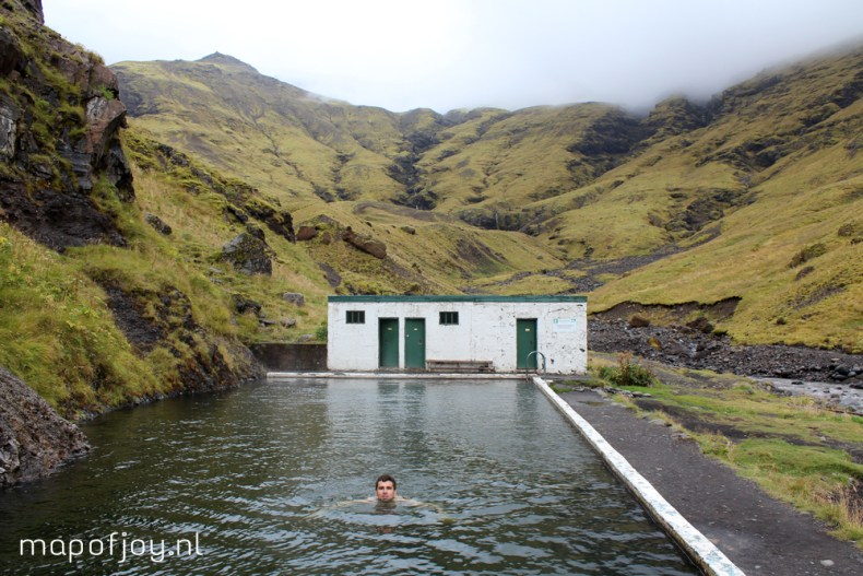Seljavallalaug pool, Iceland, travel report - Map of Joy