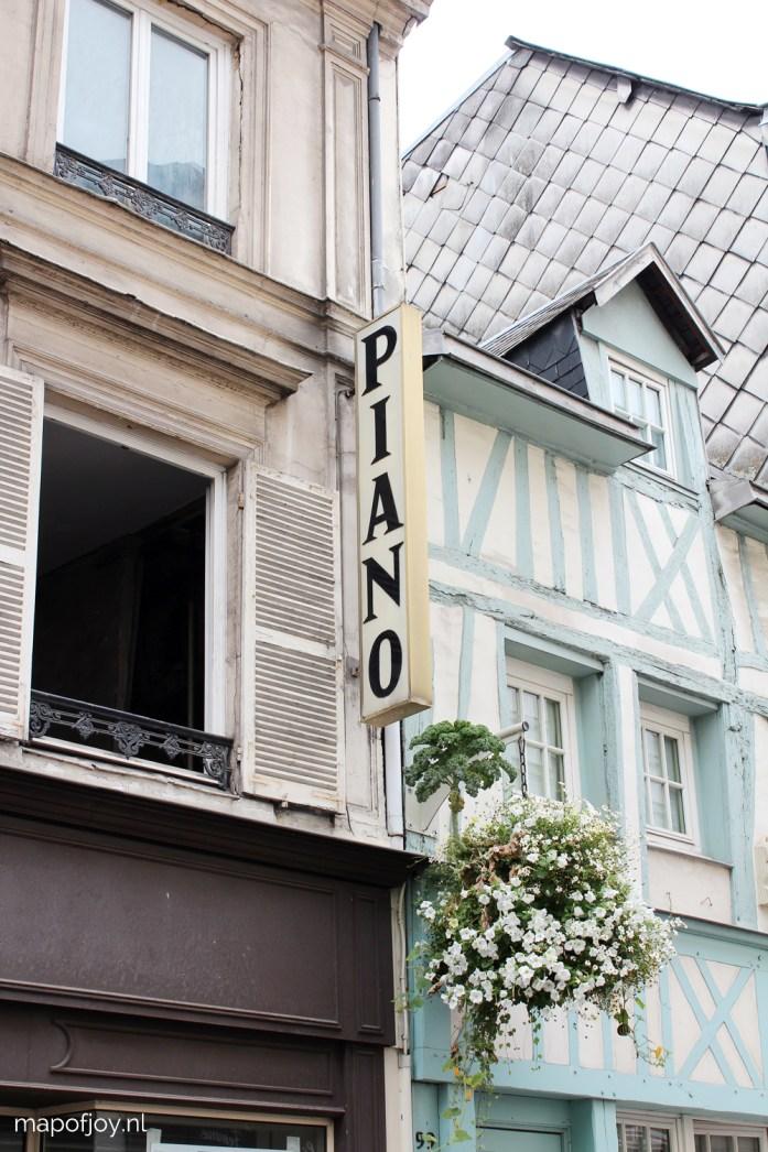 City trip Rouen, France - Map of Joy