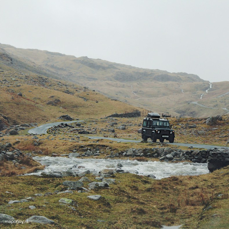Hardknott Pass, Lake District, England, road trip - Map of Joy