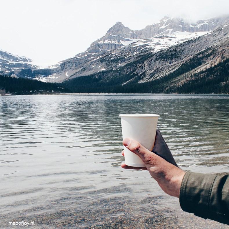 Bow Lake, coffee break, Alberta, Canada - Map of Joy