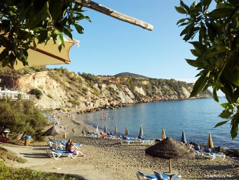 Cala d'Hort, beautiful beach, Ibiza, Spain - Map of Joy