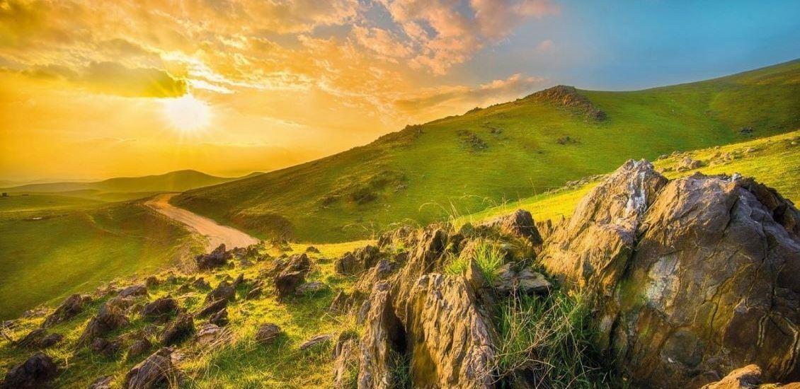 Fotobehang berglandschap
