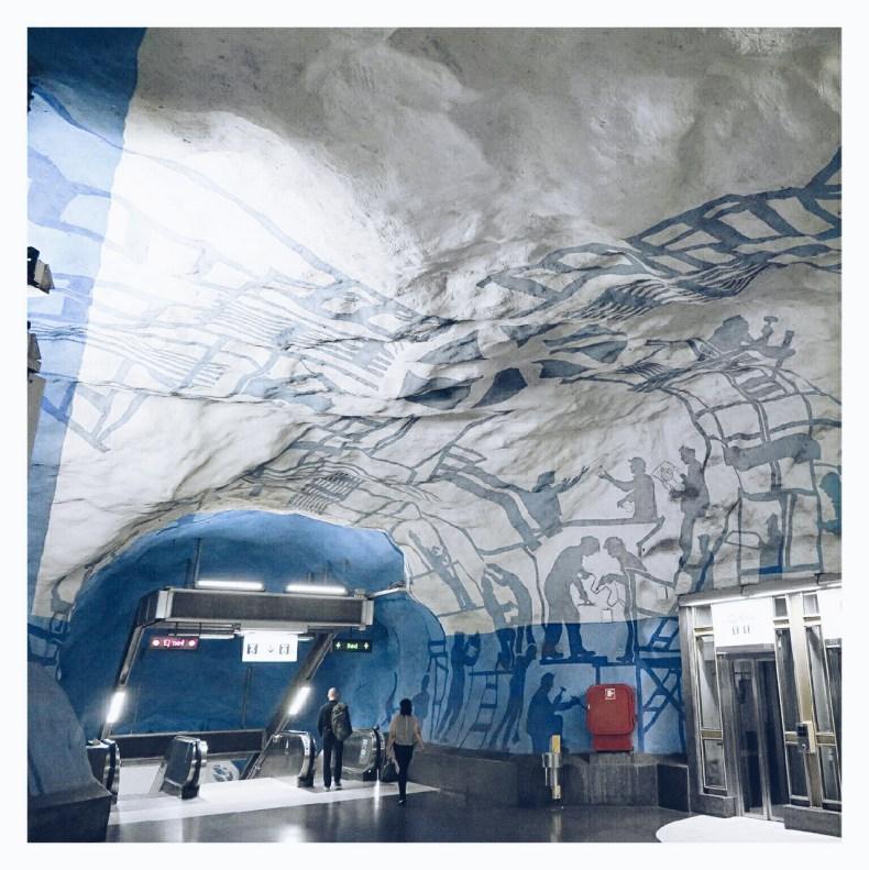 Subway art Stockholm - Map of Joy