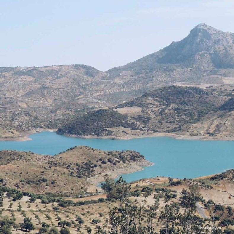 Zahara de la Sierra, lake, Andalusia, Spain - Map of Joy