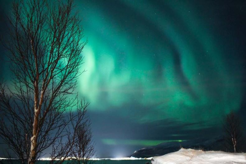 Het noorderlicht in Tromso, Noorwegen - Map of Joy