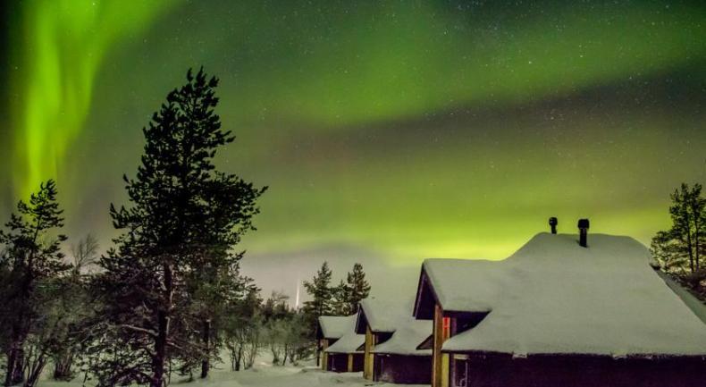 Northern Lights Village, Lapland, beste plekken om het Noorderlicht te zien