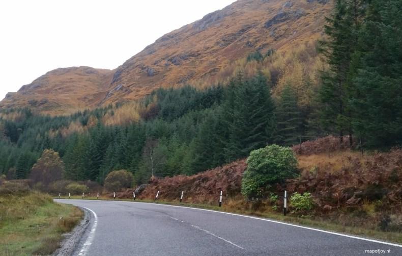 mooiste route door de Hooglanden van Schotland - Map of Joy
