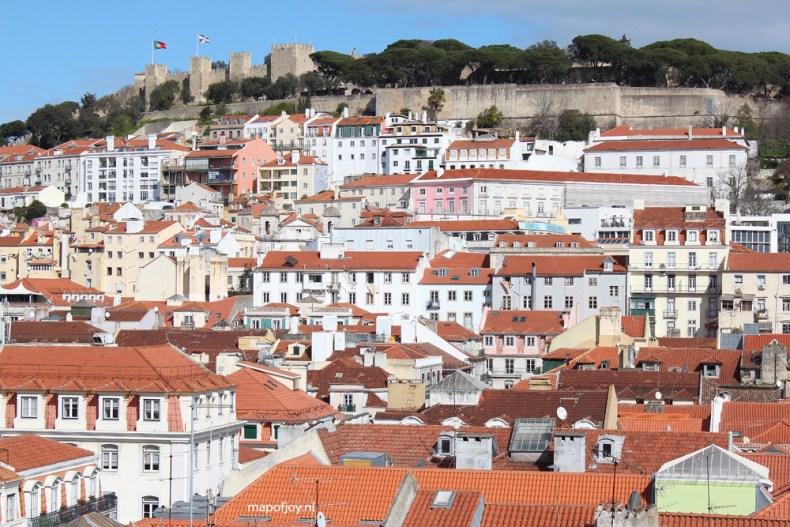 Lissabon uitzicht over Alfama - Map of Joy