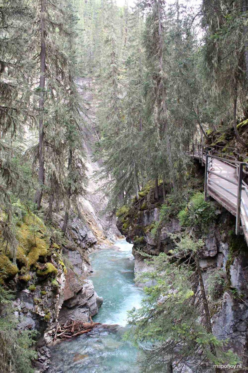Johnston Canyon, Banff NP, Alberta, Canada - Map of Joy