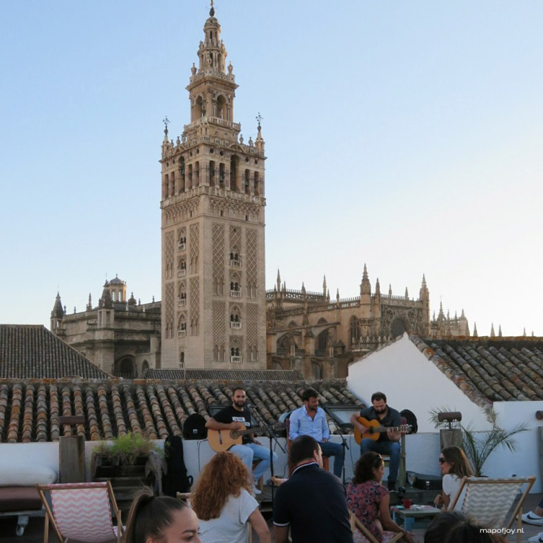Rooftop bar Funtecruz food hotspot Sevilla - Map of Joy