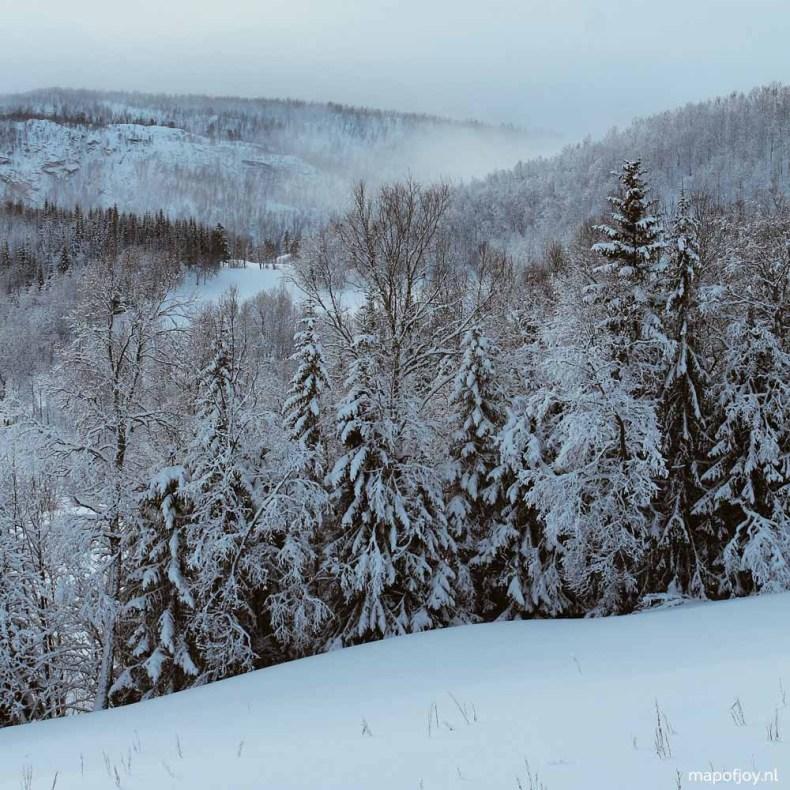 Sneeuw, Noorwegen, Skibotn - Map of Joy
