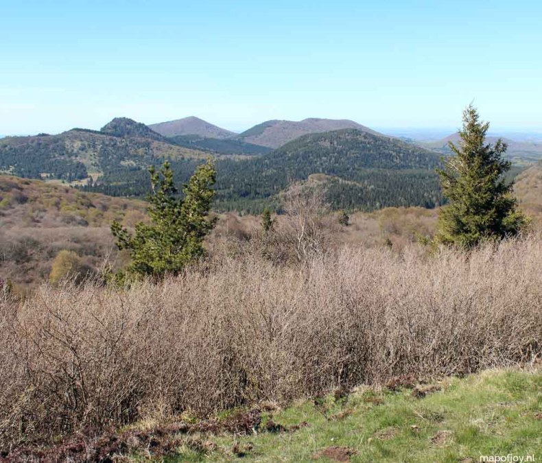 Puy de Pariou, Auvergne, Frankrijk - Map of Joy