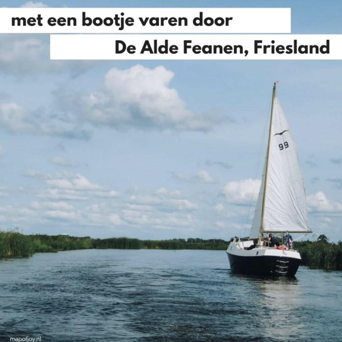 Met een bootje varen door Nationaal park De Alde Feanen, Friesland - Map of Joy