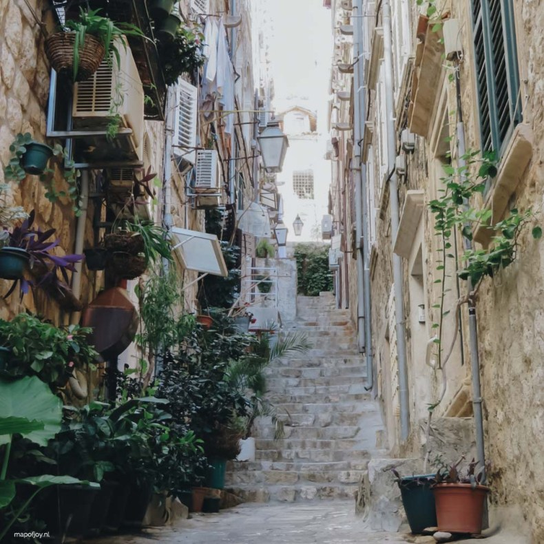 OLd town Dubrovnik - Map of Joy