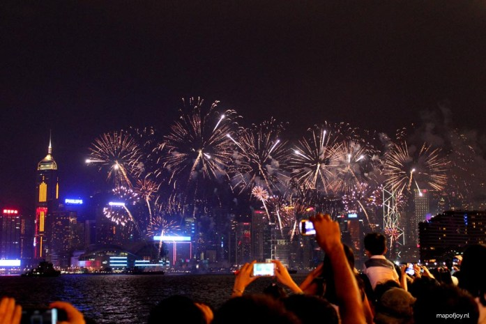 Victoria Harbour Hong Kong, fireworks, National Day- Map of Joy
