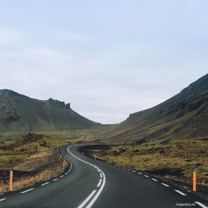 Road Snaefellsnes, Iceland - Map of Joy