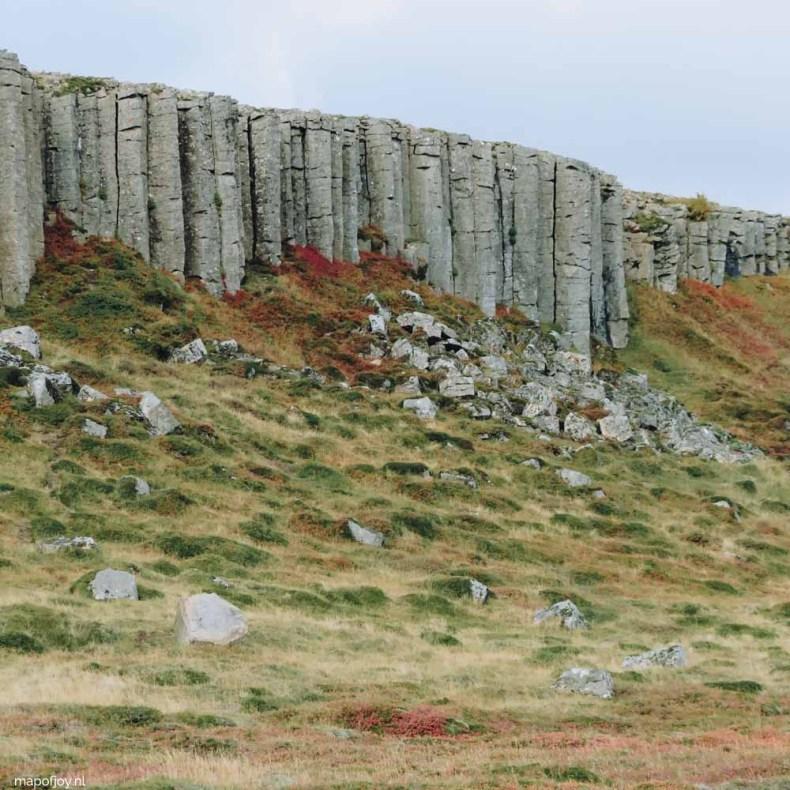 Ytri-Raudamellur, de basalt columns, Snaefellsnes Ijsland - Map of Joy
