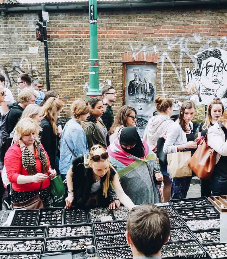 Brick Lane, markt, London - Map of Joy