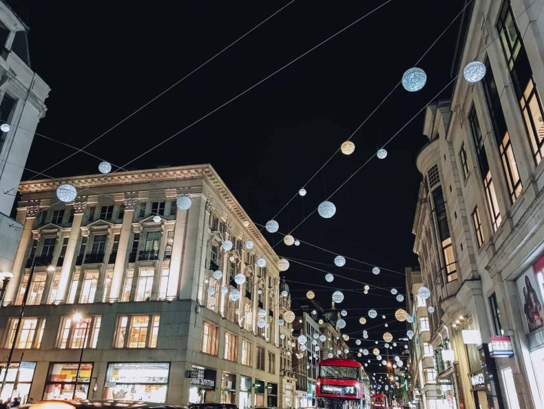 Oxford Street, kerstshoppen in Londen - Map of Joy