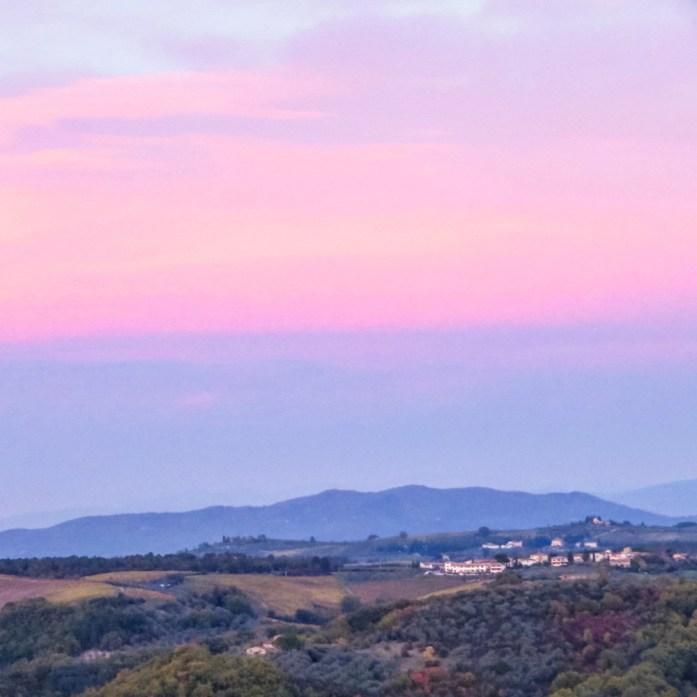 Chianti, Toscane, zonsondergang, Italië - Map of Joy