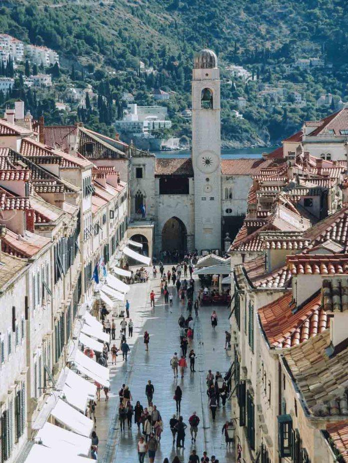Stradun, Dubrovnik, wandelen over de stadsmuren - Map of Joy