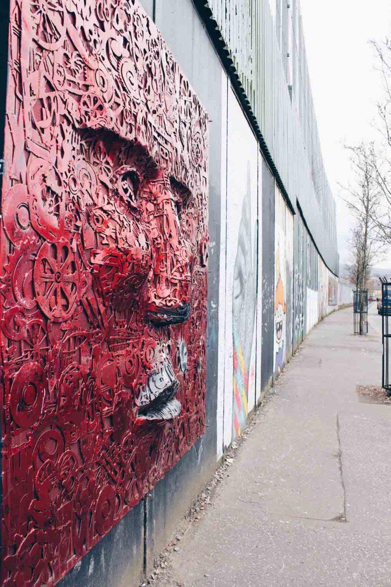 Peace Wall Belfast, Noord-Ierland - Map of Joy