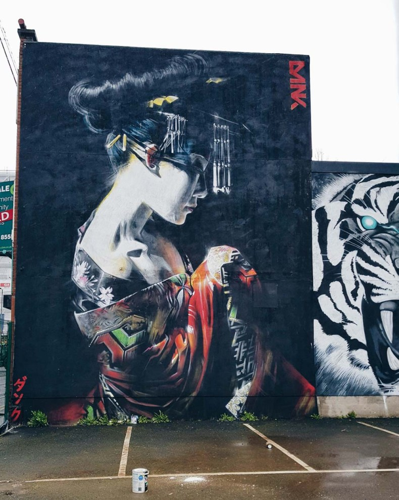 Street art, mural, Belfast, The Dream, Dan Kitchener - Map of Joy