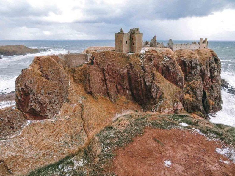 Dunnottar Castle, Aberdeenshire, Schotland - Map of Joy