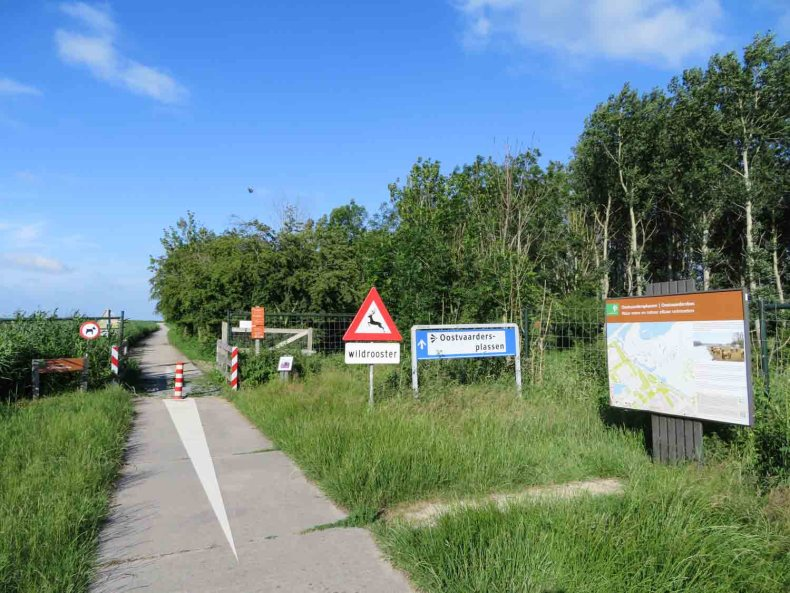 Wandelen in de Oostvaardersplassen, Almere, Flevoland - Map of Joy