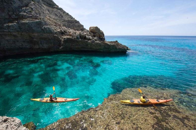 Kajakken op Formentera