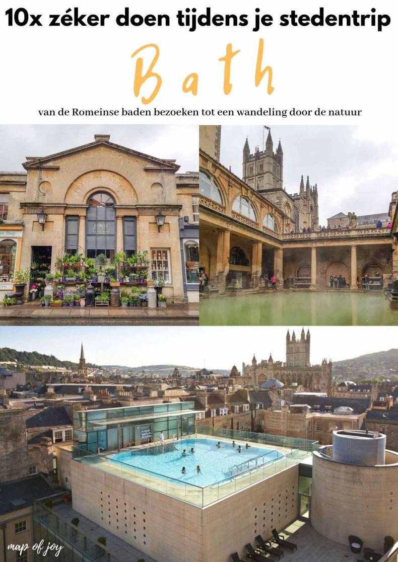 10x zéker doen tijdens je stedentrip Bath - Map of Joy