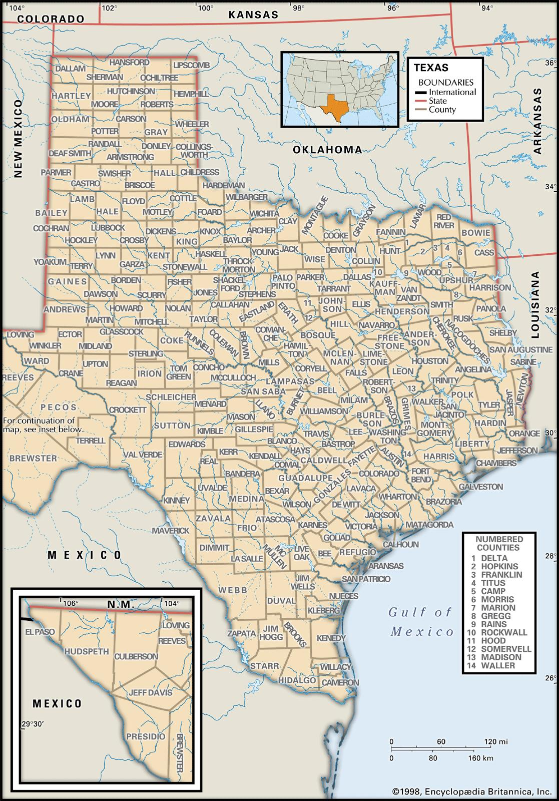 State And County Maps Of Texas