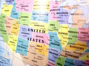 Historical Atlases and Maps of U S  and States   Map of US A US Map May be the Key to Your Ancestry