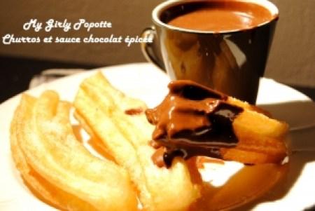 churros my girly popotte sauce chocolat