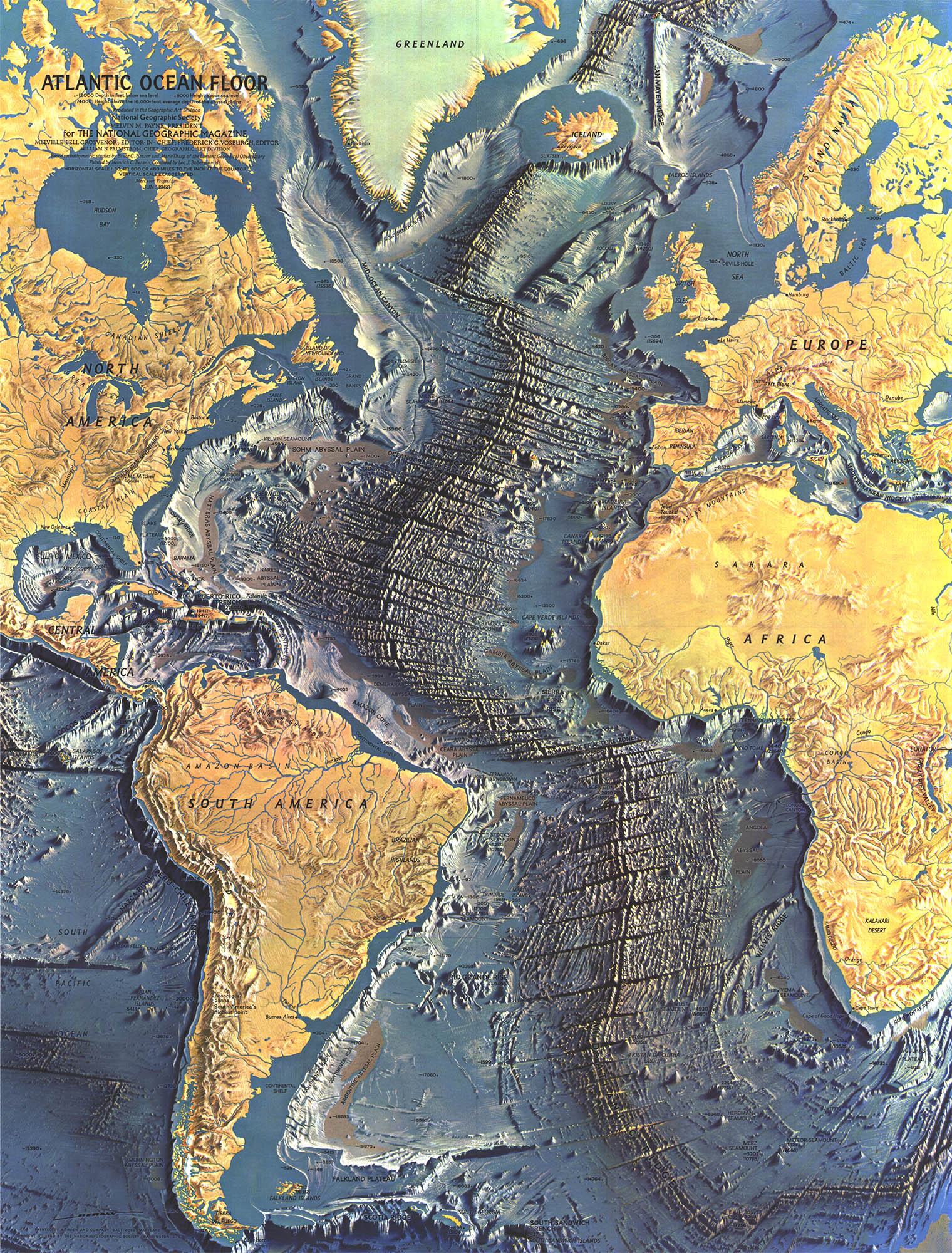 Topography Of The Arctic Ocean Wallpapers